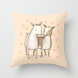 I Goat You Babe Throw Pillow