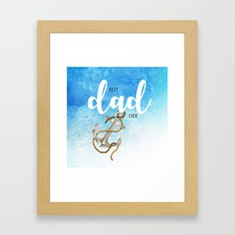 Best father #5 in the world | Father's day Framed Art Print