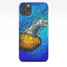 Ocean jellyfish photo bubble art | Go with the flow iPhone Case