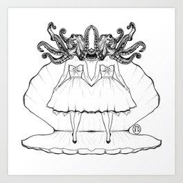 When Mermaids Attack Art Print