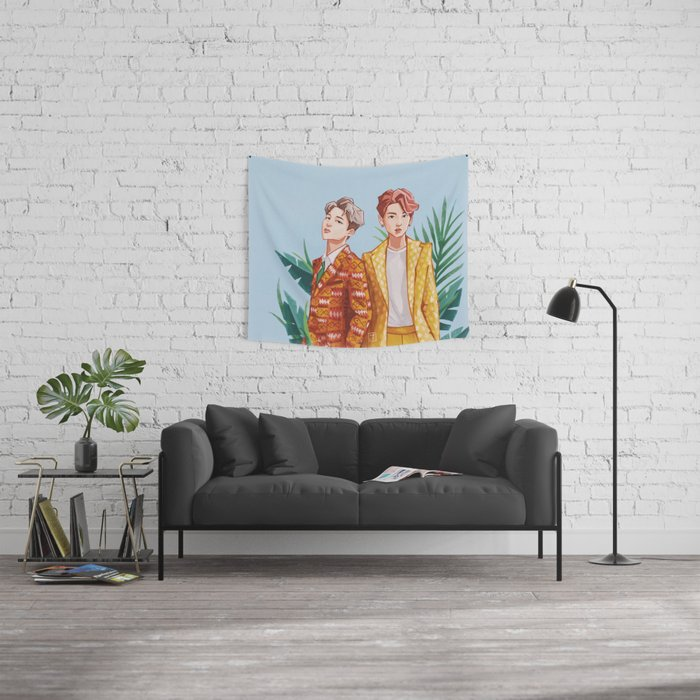 BTS Jungkook and Jimin Wall Tapestry