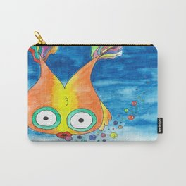 Rainbow Bubble Fish Carry-All Pouch