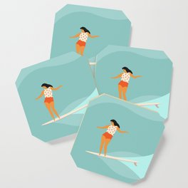 Surf girl Coaster