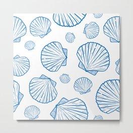 marine seamless pattern Metal Print