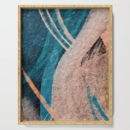 Dark Grace [1]: an abstract watercolor by Alyssa Hamilton Art Serving Tray