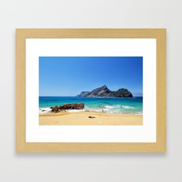 Sunny beach on Porto Santo (RR 276) Framed Art Print