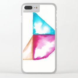 180914 Minimalist Geometric Watercolor 4 Clear iPhone Case