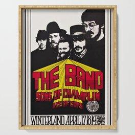 1969 The Band at Winterland Ballroom Concert Poster Serving Tray