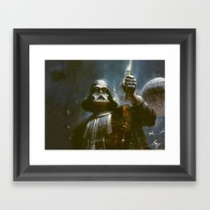 Darth Vader Vintage Framed Art Print