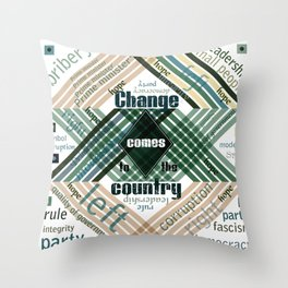Time to change Throw Pillow