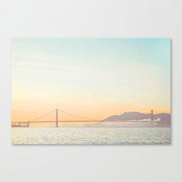Pastel Golden Gate Canvas Print