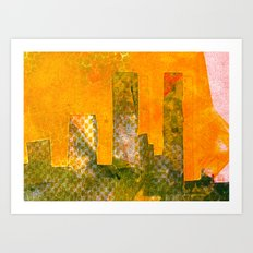 Yellow City Art Print