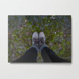 Moss Shoes Metal Print