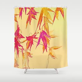 Autumn magic leaves Shower Curtain