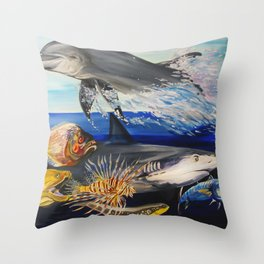 Against The Flow  Throw Pillow