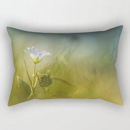 Cerastium fontanum subsp. vulgare  Rectangular Pillow