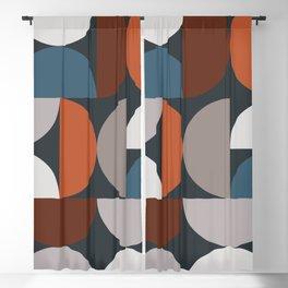 Mid Century Modern Geometric 24 Blackout Curtain