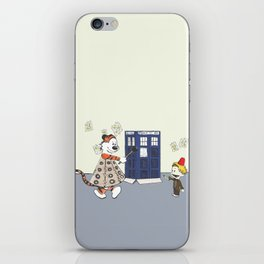 Playing Doctor and Daleks iPhone Skin