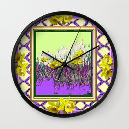 PANTENE ULTRA VIOLET PURPLE DAFFODIL GARDEN DECORATIVE ART Wall Clock