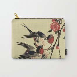 Moon Swallows and Peach Blossoms Carry-All Pouch