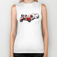 vespa Biker Tanks featuring Vespa by absoluca