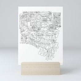 New York in one line Mini Art Print