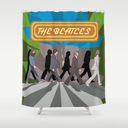 Le Beats Shower Curtain
