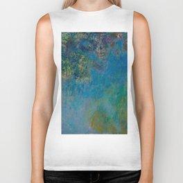 """Claude Monet """"Wisteria"""" Biker Tank"""