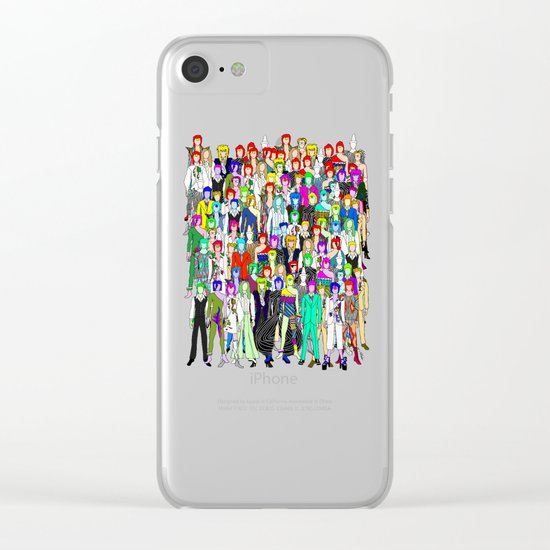 Bowie Punks in Tokyo Clear iPhone Case