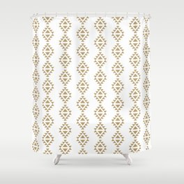 Aztec Triangles - Black and white modern pattern in tribal native style Shower Curtain