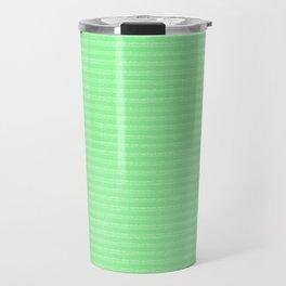 green stripes Travel Mug