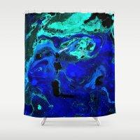 atlas Shower Curtains featuring Neptune's Atlas by Peta Herbert