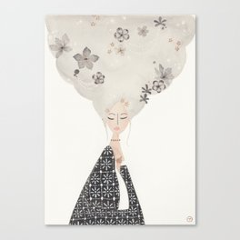 HAIR IN THE CLOUDS Canvas Print