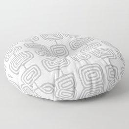 Mid Century Modern Atomic Rings Pattern Gray 3 Floor Pillow
