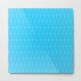 Simple Geometric Triangle Pattern- White on Teal - Mix & Match with Simplicity of life Metal Print
