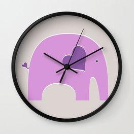 Lavender Elephant Wall Clock
