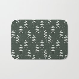 Pine Trees . Olive Bath Mat