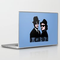 blues brothers Laptop & iPad Skins featuring Blues Brothers by John Medbury (LAZY J Studios)