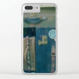 Vintage Suitcases (Color) Clear iPhone Case