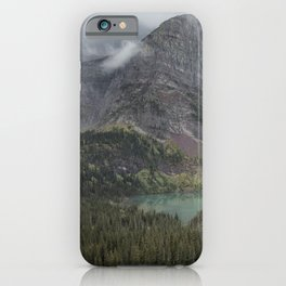 Grinnell Lake from the Trail No. 1 - Glacier NP iPhone Case