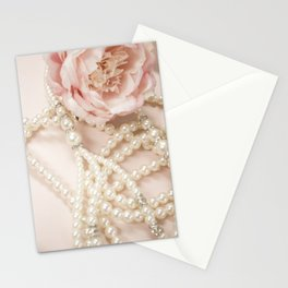 Peony and Pearls Stationery Cards
