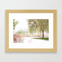 Getty Museum - A View Framed Art Print