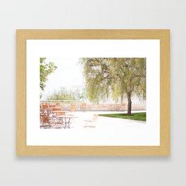Getty Museum - A View Framed Art Print