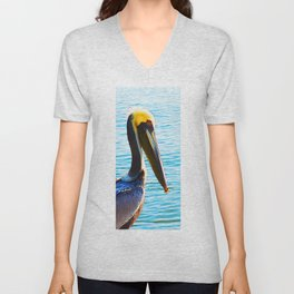 Big Bill - Pelican Art By Sharon Cummings Unisex V-Neck