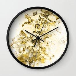 Gold Cherry Blossom Plaster Wall Clock