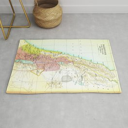 Old 1020BC Saul Palestine Map Rug