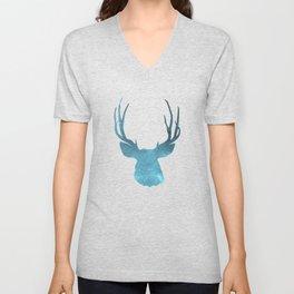 Deer head and stag simple illustration Unisex V-Neck