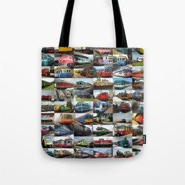 Locomotives collage Tote Bag