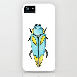Light blue insect | Entomology watercolor iPhone Case