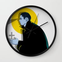 vampire Wall Clocks featuring Vampire by Musya